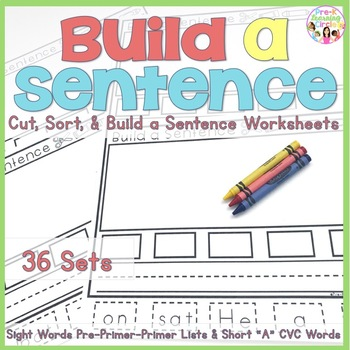 "Unscramble & Build a Sentence(with  CVC Short ""A"" words and Sight Words)"