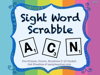 Unscramble COMPLETE List Dolch and Fry Sight Words- Daily 5, Spelling SAVE $$$