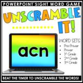 Unscramble It-Sight Word Game