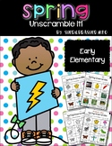 Unscramble It | Spring | Writing Centers | Vocabulary