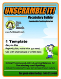 Unscramble It! Vocabulary Builder