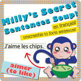 """Unscramble Milly's Sentence Soup to Form Sentences with """"A"""