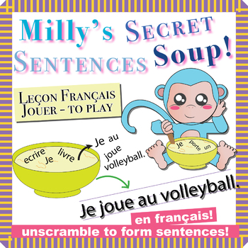 """Unscramble Milly's Sentence Soup to Form Sentences with """"Jouer"""" in French!"""