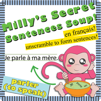 "Unscramble Milly's Sentence Soup to Form Sentences with ""Parler"" in French!"