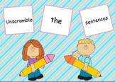 Unscramble Sentences Flipchart for ActivInspire