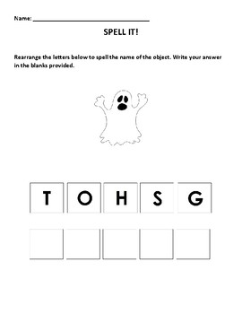 Unscramble Spelling Activities (for special ed., preschool, and kindergarten).