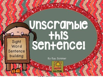 Sight Word Sentence Building - Unscramble This Sentence