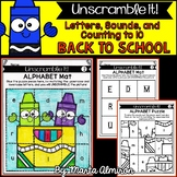 Unscramble it! {BACK TO SCHOOL} {Letters, Sounds, and Coun
