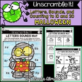 Unscramble it! {HALLOWEEN} {Letter Sounds, Counting to 10,