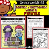 Unscramble it! {PIRATES} {Addition/ Subtraction within 15}