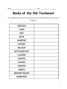 Bewitching image regarding books of the bible printable worksheets