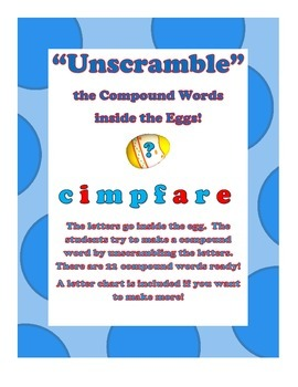 """""""Unscramble"""" the Compound Words inside the Eggs!"""