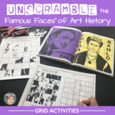 Unscramble the Famous Faces™ of Art History - 7 Artists Included!