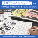 Unscramble the Famous Faces™ of STEM or STEAM - 8 People Included!