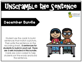 Unscramble the Sentence-December Bundle