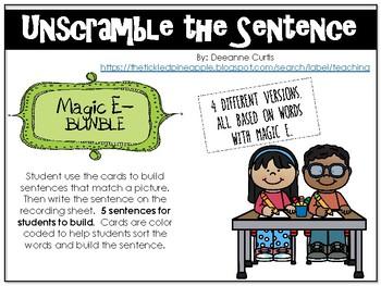 Unscramble the Sentence-Magic E Bundle
