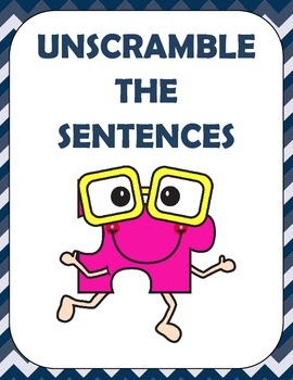 Unscramble the Sentence ( Scrambled Sentences )  3 page of 8 questions each page