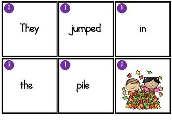 Unscramble the Sentence-Seasons Bundle