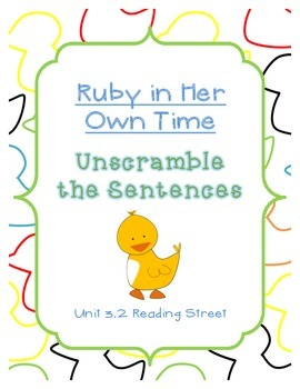 Unscramble the Sentences 3.2 Ruby in Her Own Time