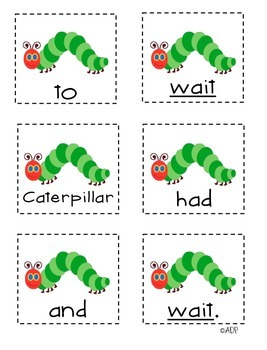 Unscramble the Sentences 3.5 I'm a Caterpillar