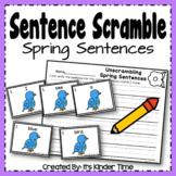 Sentence Scramble - Spring Sentences