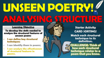 Unseen Poetry - Analysing Structure!