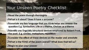 Unseen Poetry Checklist