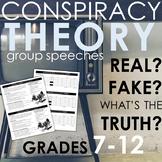 Conspiracy Theory Group Speeches - CCSS Aligned!