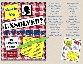 Unsolved Mysteries Guide - Famous Cases for Independent Research