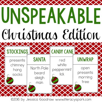 Unspeakable Christmas Vocabulary Game