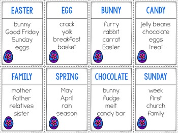 Unspeakable Easter Vocabulary Game