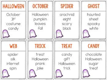 Unspeakable Halloween Vocabulary Game