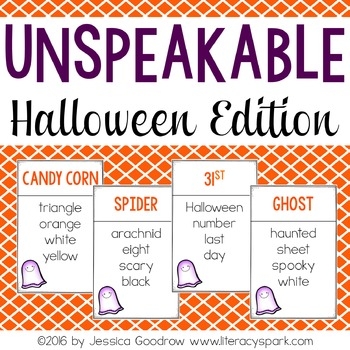 Unspeakable Halloween Vocabulary Game