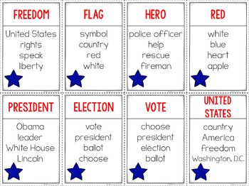 Unspeakable Patriotic Vocabulary Game