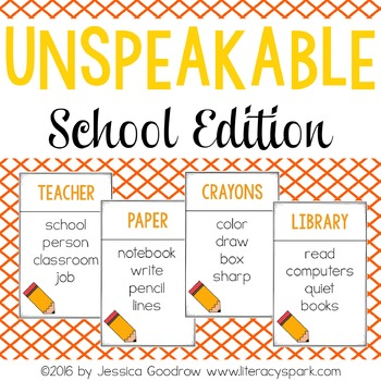 Unspeakable School Vocabulary Game