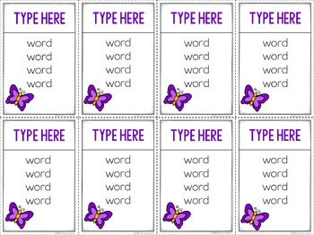 Unspeakable Spring Vocabulary Game