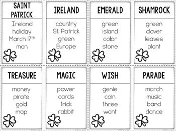 Unspeakable St. Patrick's Day Vocabulary Game