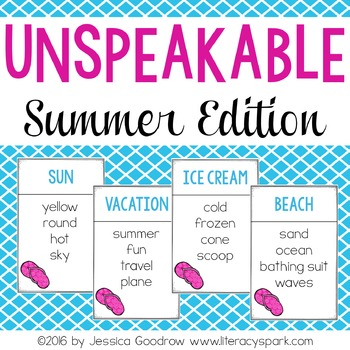Unspeakable Summer Vocabulary Game