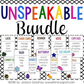 Unspeakable Vocabulary Game BUNDLE