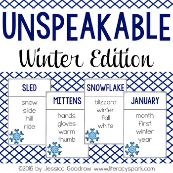 Unspeakable Winter Vocabulary Game