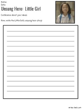 Unsung Hero Perspective Writing Unit FREEBIE Grades 4-6