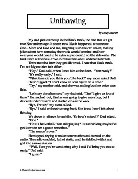 "Short Story ""Unthawing"""