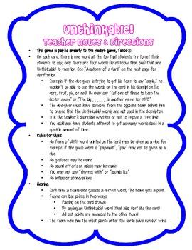 Math Vocabulary Game BUNDLE