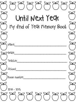 Until Next Year - My End of Year Memory Book