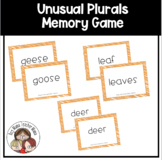 Unusual Plurals Memory Game