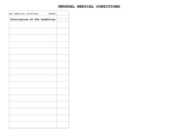 Unusual Medical Conditons