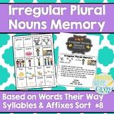 Irregular Plural Nouns Memory