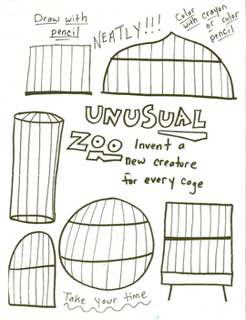 Unusual Zoo Drawing Worksheet