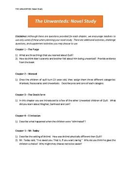 Unwanteds Novel Study