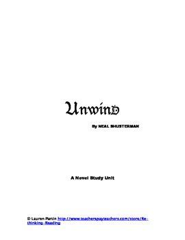 Unwind - novel study unit